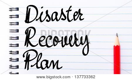Drp Disaster Recovery Plan Written On Notebook