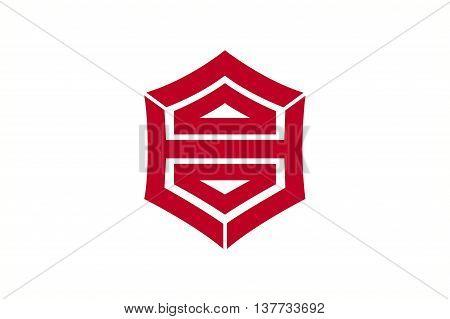 Japan Kochi prefecture Kochi city flag illustration