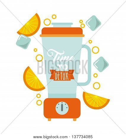 Smoothie and Juice concept represented by detox blender icon. Isolated and flat illustration.