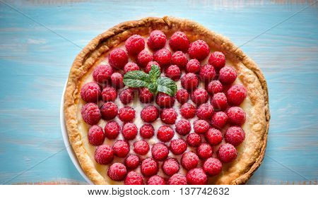 Raspberry Tart With Custard