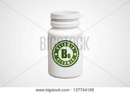 Bottle Of Pills With Vitamin B6
