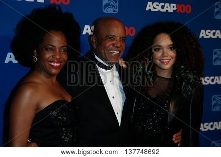NEW YORK-NOV 17: (L-R) Rhonda Ross Kendrick, Berry Gordy and Jada Grace attend the ASCAP Centennial Awards at The Waldorf Astoria on November 17, 2014 in New York City.