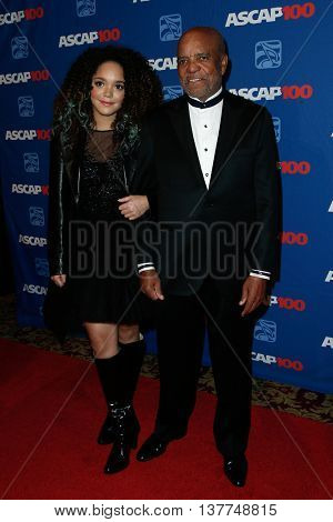 NEW YORK-NOV 17: Berry Gordy (R) and Jada Grace attend the ASCAP Centennial Awards at The Waldorf Astoria on November 17, 2014 in New York City.