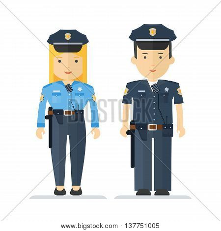 Profession Policeman And Woman
