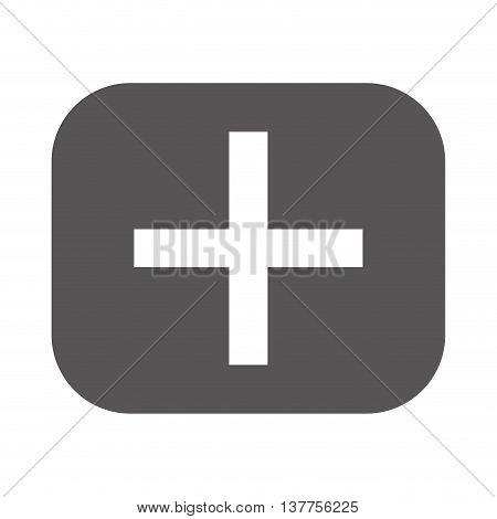 addition math symbol icon isolated vector illustration