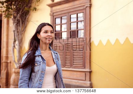 Pretty Young Girl With Long Dark Hair
