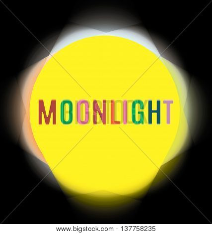 searchlights around the labels moonlight crayons yellow