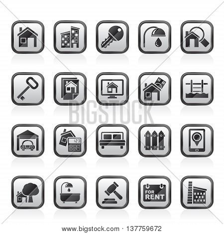 Real Estate business Icons - Vector Icon Set