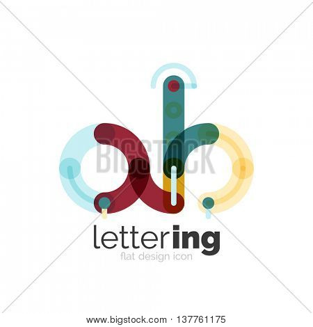 Letter Logo Business Linear Icon Vector & Photo | Bigstock