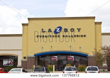 Lafayette IN - Circa July 2016: La-Z-Boy Retail Location. La-Z-Boy is a furniture manufacturer based in Monroe, Michigan I