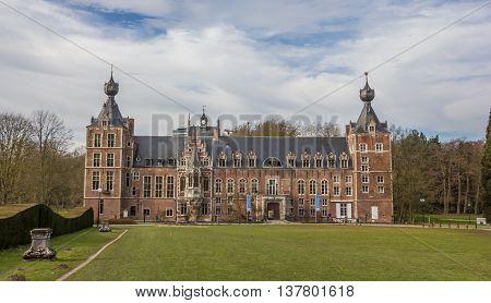 LEUVEN, BELGIUM - MARCH 7, 2015: Castle Arenberg, now university of Leuven in Belgium