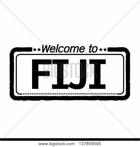 an images of Welcome to FIJI illustration design