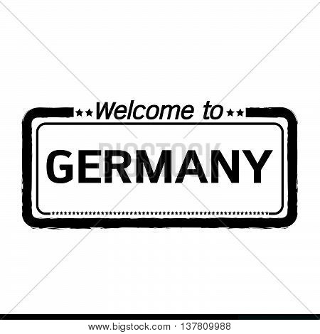 an images of Welcome to GERMANY illustration design