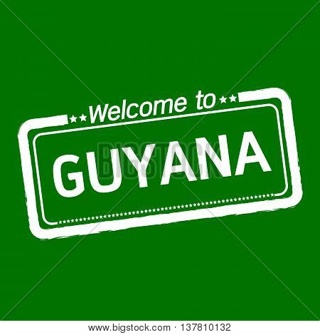 an images of Welcome to GUYANA illustration design