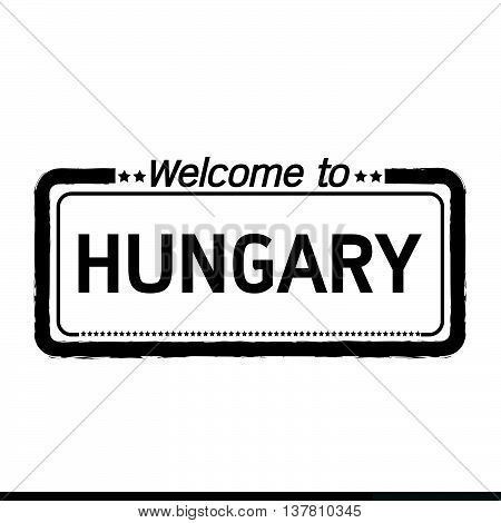 an images of Welcome to HUNGARY illustration design