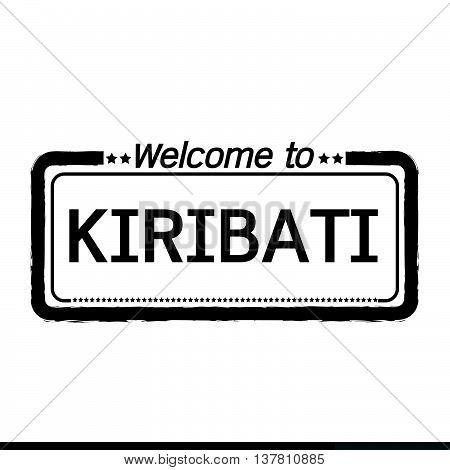 an images of Welcome to KIRIBATI illustration design