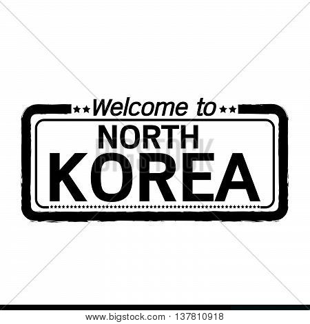 an images of Welcome to NORTH KOREA illustration design