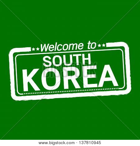 an images of Welcome to SOUTH KOREA illustration design