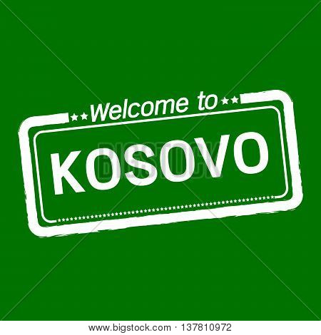 an images of Welcome to KOSOVO illustration design