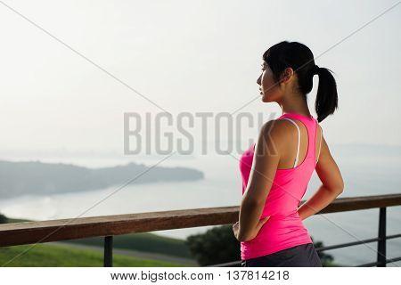 Fitness Asian Woman Workout Motivation