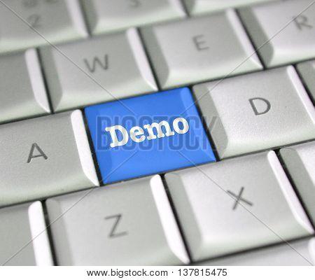 Demo computer key