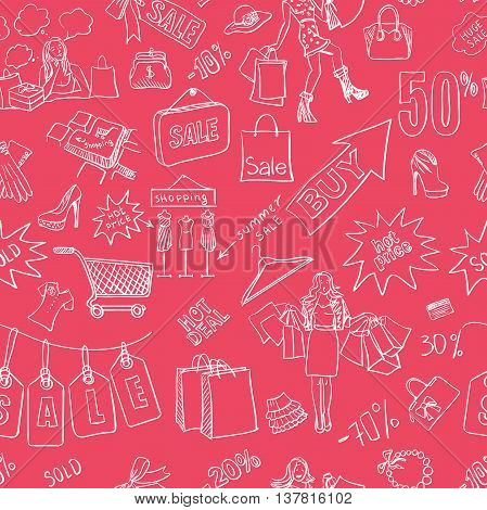 Sale seamless pattern background. Vector illustration, EPS 10