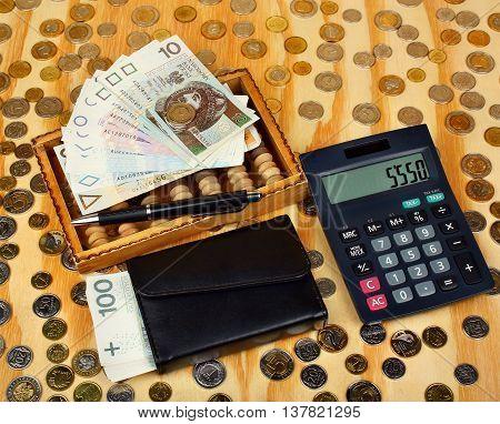 Abacus And Polish Money