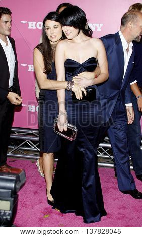 Demi Moore and Rumer Willis at the Los Angeles premiere of 'House Bunny' held at the Mann Village Theatre in Westwood, USA on August 20, 2008.