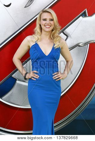 Kate McKinnon at the World premiere of 'Ghostbusters' held at the TCL Chinese Theatre in Hollywood, USA on July 9, 2016.
