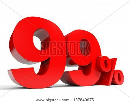 Red Ninety Nine Percent Off. Discount 99%.
