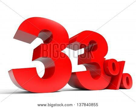 Red Thirty Three Percent Off. Discount 33%.