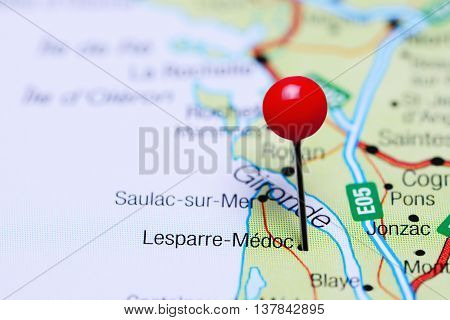 Lesparre-Medoc pinned on a map of France