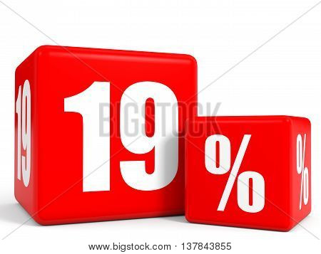 Red Sale Cubes. Nineteen Percent Discount.