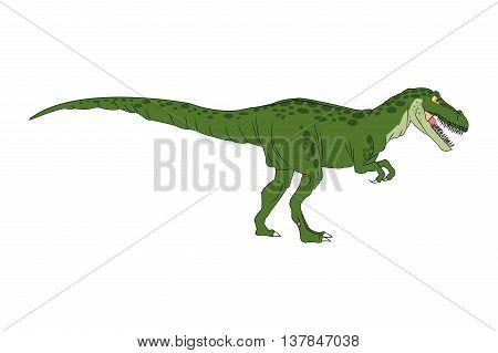 Dinosaur cartoon comic tiranosaur rex isolated vector illustration