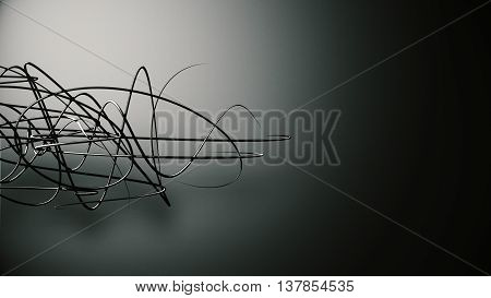 Waved Organic Lines On Gradient Background