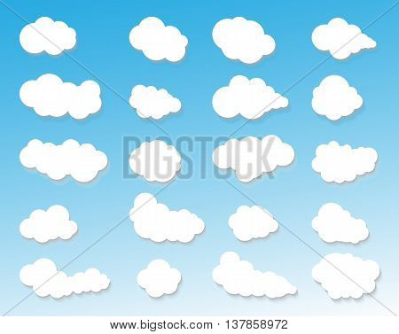 CLOUDS ICON CLOUDY SKY CLOUDS BLUE SKY CLOUD BACKGROUND CLOUDS LIGHTING CLOUDSCAPE CLOUD SKY CLOUD SET WEATHER SKY SKY CLOUD SKY BACKGROUND