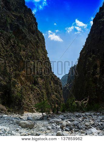 Vertical vivid vibrant mountain cleft landscape background backdrop