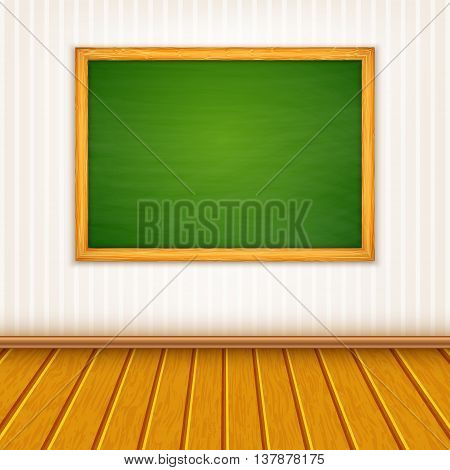 Vector background with a blackboard on wall
