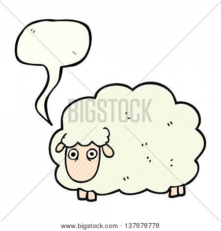 freehand drawn comic book speech bubble cartoon farting sheep