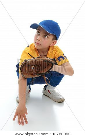 Little Boy In Baseball T-ball Gear
