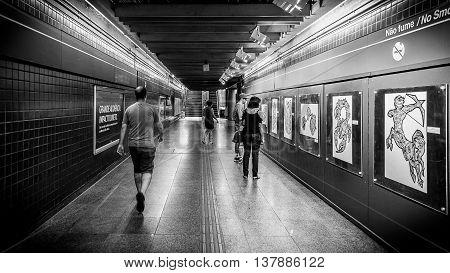Sao Paulo, Brazil - April 2016 - Faria Lima Station
