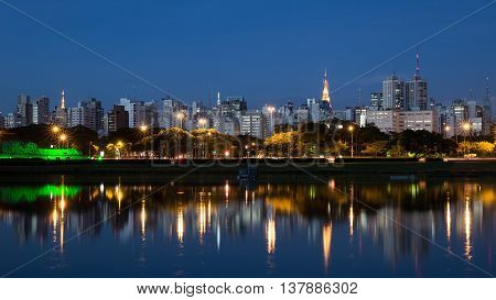 The Beautiful City Of Sao Paulo At Night