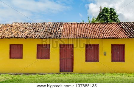 Sao Miguel Dos Milagres, Brazil - May 2016 - Small Colored House