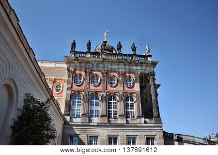 Potsdam Germany - May 19 2013: Neues Palais in Sanssouci palace