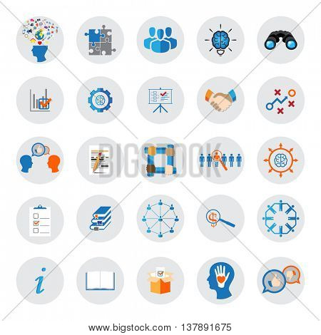 Business, Management and Teamwork Organization vector icons
