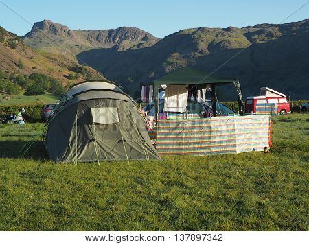 Camping at Baysbrown Campsite in the Lake District