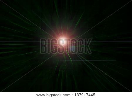 Abstract Modern Light Green On Dark Background
