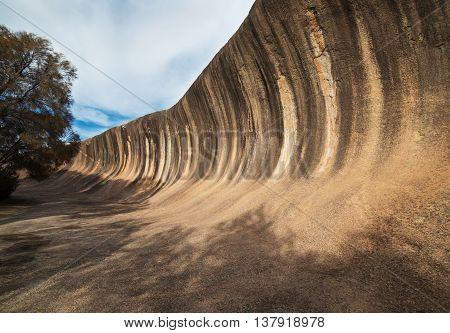 Fantastic Wave Rock in the Wave Rock Wildlife Park near Hyden in Western Australia.