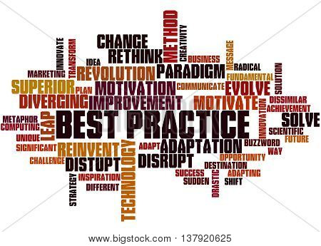 Best Practice, Word Cloud Concept 6