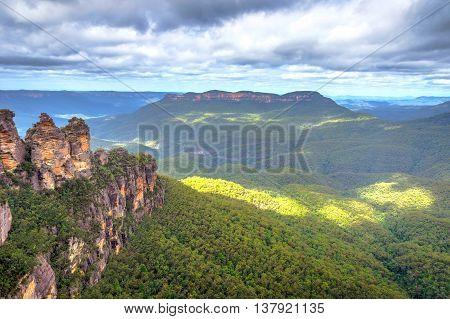 Three Sisters In Blue Mountains, Australia